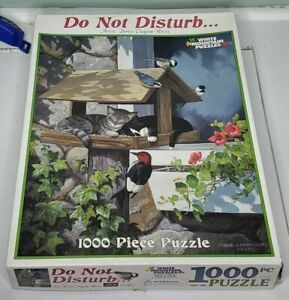 White Mountain 1000 Piece Puzzle - Do Not Disturb - COMPLETE