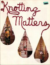 3 Tiered Macrame Plant Hanger Pattern in Craft Book: #J102 Knotting Matters