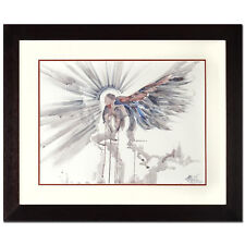 MARTA WILEY ORIGINAL WATERCOLOR PAINTING HAND SIGNED w/COA ANGEL FRAMED