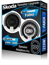 Skoda Fabia Front Door Speakers Fli car speakers + speaker adapter pods 210W