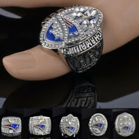 2001 2003 2004 2014 2016 2018 NEW ENGLAND PATRIOTS CHAMPIONSHIP RINGS WITH Box