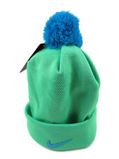 Nike Swoosh Pom Pom Beanie Unisex Youth Size 7/16 Blue Lagoon New