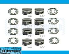 GM CHEVY 6.0 LQ9 LS2 HYPEREUTECTIC FLAT TOP PISTONS AND RINGS