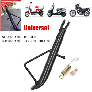 Universal Motorcycle Electric Scooter Side Stand Holder Kickstand Leg Foot Brace