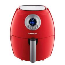 Gowise Airwise Electric Digital Air Fryer with 2.75Qt Capacity Temp Adjust Red