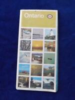 ROAD MAP ONTARIO CANADA 1965 ESSO OIL GAS SERVICE STATION ADVERTISING