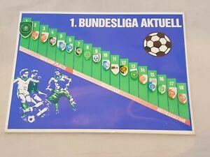 Stuco Magnettabelle 1. Fußball Bundesliga 1986/87 mit 18 Wappen - nicht komplett