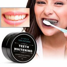 ORGANIC COCONUT ACTIVATED CHARCOAL NATURAL TEETH WHITENING POWDER BEAUTY