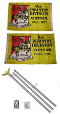 2x3 2'x3' 9th Infantry Division 2ply Flag Aluminum Pole Kit Set