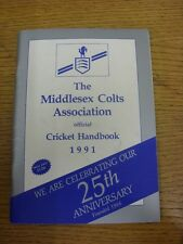 1991 Cricket: Middlesex Colts Associazione Ufficiale Cricket manuale (lievi MARKI