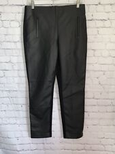 Chico's Women's Black Faux Leather Front Pull On Ankle Pants size 0