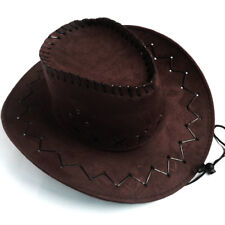 Men Women Western Headwear Cap Wild West Fancy Cowgirl Cowboy Hats Khaik Black