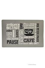Set 4 Grey Paris French Bistro Cafe Kitchen Table Place Mats Placemats Decor