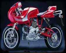 Ducati Mh900E 3 A4 Photo Print Motorbike Vintage Aged