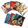 Men Classic Japan Style Floral Handkerchief Pocket Square Wedding Party Hanky