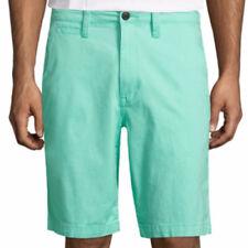 Arizona Men's Chino Shorts Mint Green Size 29W Flex 10.25 Inseam NEW