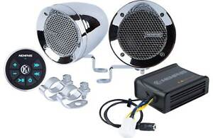 Memphis MXABMC2BT (2) Speakers+Amp+Bluetooth Control For Motorcycle/ATV/Scooter