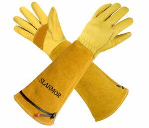 Gardening-Gloves Women/Men - Thorn proof Rose Pruning Heavy Duty Gauntlet-M