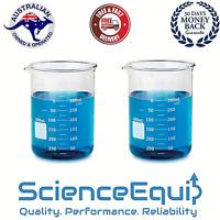 Glass Beaker Kit Graduated Research Grade Borosilicate 500ml x 2