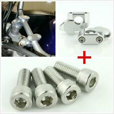 1 Pair Mount Clamps Risers Kit Universal Fit For 7/8in 22mm Motorcycle HandleBar(Fits: Ducati GT)