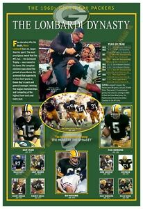 """THE LOMBARDI DYNASTY: THE '60S GREEN BAY PACKERS 13""""x19"""" COMMEMORATIVE POSTER"""