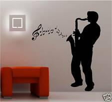 GIANT SAXAPHONE PLAYER VINYL WALL ART STICKER MUSIC SAX