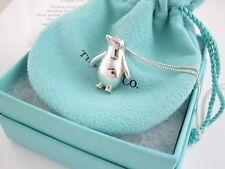 Tiffany & Co Rare Silver Penguin Bird Animal Pendant 18.25 Inch Necklace