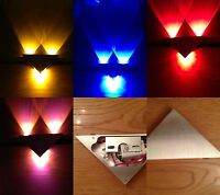 LED 3x1w Dimmable Wall Ceiling light fitting Lamp 9849 white red pink yellow