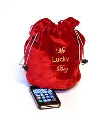"8""x6"" Red Velvet/Pink Satin (Dice, Rune/Tarot, Gadgets, Jewelry) Drawstring Bag"