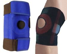 XL Blue Neoprene Adjustable Open Knee Patella Stays Support Brace Sprain Gym UK