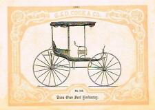 Catalogue Advertising - Carriages by G & D Cook - TURN OVER SEAT ROCKAWAY - 1860