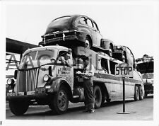 1947 Ford Tractor Trailer Truck, Mercury car load, Factory Photo (Ref. # 43422)