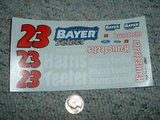 JNJ Hobbies 1/24 1/ 25  Decals #23 Bayer Harris Teeter Chad Little  XX