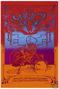 The Who at the Hollywood Palladium * Psychedelic * Concert Poster 1969  12x18