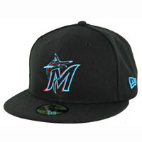 New Era 59Fifty Miami Marlins GAME Fitted Hat (Black) Men s MLB Cap 74ccf526829