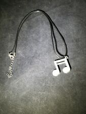 16th Note Necklace, Music Jewelry,  Music Note,  3D Print Necklace