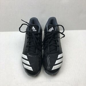 Adidas Women Cleats Black and White Size 5.5