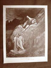 Incisione Gustave Dorè del 1890 Dante Minotauro Violenti Divina Commedia Inferno