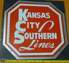Microscale Metal Sign #10014 Kansas City Southern Lines (Die, Cut,Embossed Metal