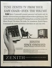 1958 Vintage Print Ad 50's ZENITG Space Command Remote Control Television TV