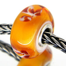 AUTHENTIC TROLLBEADS RETIRED   Fur Flower  61175 RARE ORIGINAL BEAD 53