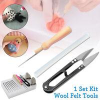1 Set Kit Wool Felt Tools Needle Felting Starter Kit Mat/Scissors/Needle