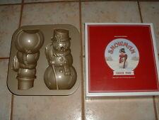 William & Sonoma NordicWare Snowman 3D Cake Pan Unused