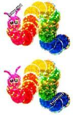 ~ Sparkle Rainbow Book Worm Blue Green Pink Hambly Studio Glitter Stickers ~