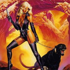 LADY KILLER Signed ART PRINT Black Panther JOE JUSKO Album Cover 8.5x6 SEXY GIRL