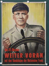 org altes DDR Plakat am 17.Oktober weiter voran Nationalen Front Propaganda 1954