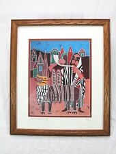 "AMOS AMIT ""Rosh Hashana"" Autographed Extremely Rare Signed In Pencil Framed"