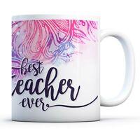 Best Teacher Ever - Drinks Mug Cup Kitchen Birthday Office Fun Gift #14466