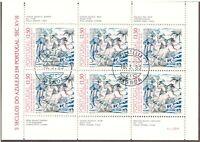 PORTUGAL 1983 500 JAHRE AZULEJOS (KACHELN) 4 Block ESST /  GLAZED TILES 4 MS FDI