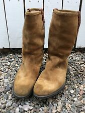 N.D.C. Made by Hand boots caramel suede shearling lined 8.5 (38)